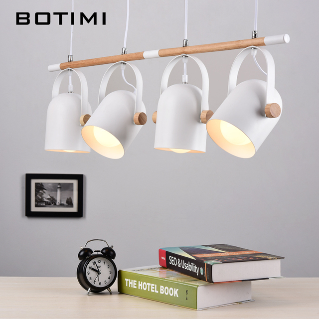 adjustable pendant lighting. BOTIMI Adjustable Pendant Lights For Dining Modern Iron Hanging Lamp With Metal Lampshades E27 LED Suspension Lighting