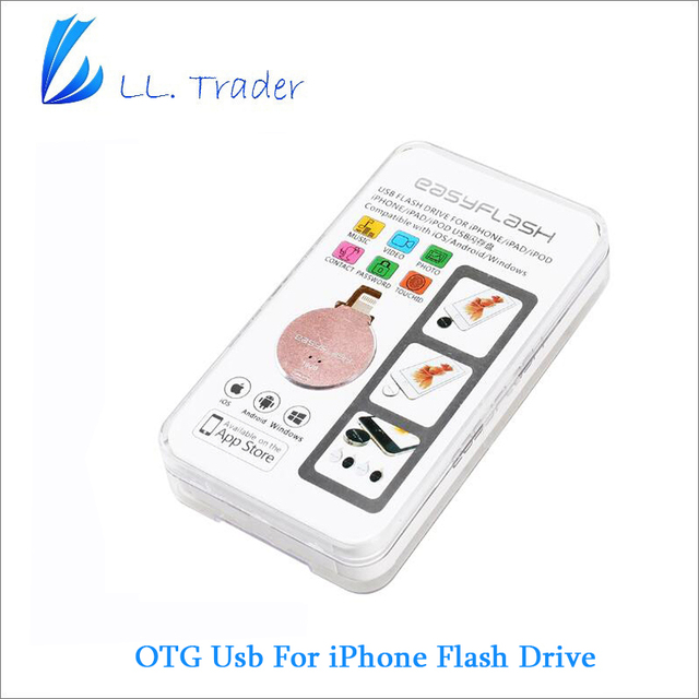 LL TRADER 64GB i-Flash Drive USB OTG Memory Stick For iPhone 7 Plus iPad Air Mini PC iOS USB Flash Drive Storage US/UK/AU/DE/RU