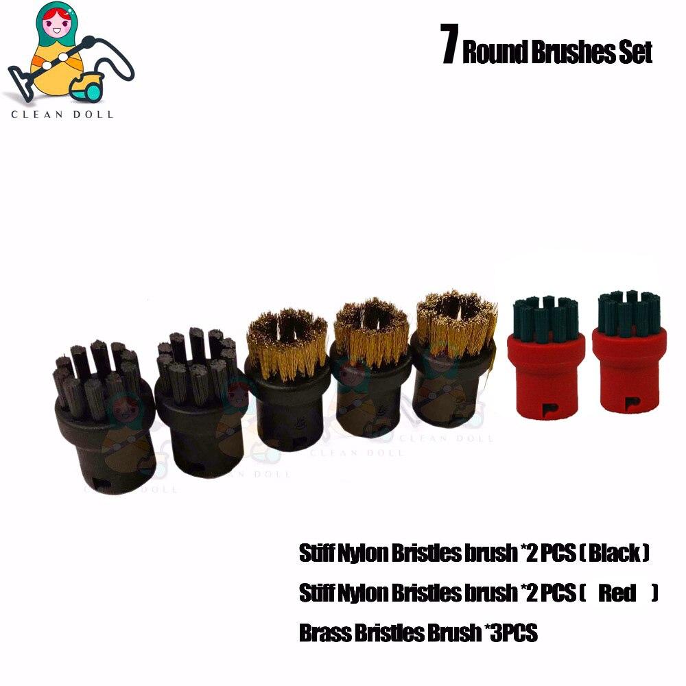 CLEAN DOLL 7-PACK  Nylon/Brass bristles Brush Nozzles for Karcher SC1 SC2 SC3 SC4 SC5 SC 6.800 SC 1020 Steam Cleaner CLEAN DOLL 7-PACK  Nylon/Brass bristles Brush Nozzles for Karcher SC1 SC2 SC3 SC4 SC5 SC 6.800 SC 1020 Steam Cleaner