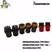 Cepillo de cerdas de latón y nailon con boquilla para Karcher SC1 SC2 SC3 SC4 SC5 SC1020 EasyFix, paño de mopa, trapos, limpiador de vapor, piezas de repuesto