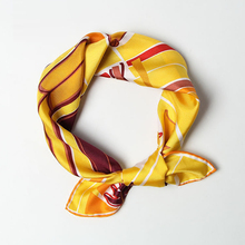 Small Silk Scarf for Women 55*55cm Square Bandanna Pure Twill Scarves Handmade Hemming