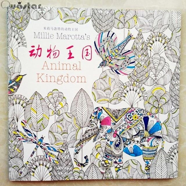 96 Páginas Reino Animal Libro Para Colorear Para Los Niños Adultos ...