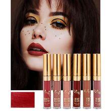 New Make Up Lips Matte Liquid Lipstick Waterproof Lip Gloss Professional Makeup Red Sexy Moisture Cosmetic Kit