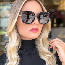 PAWXFB 2019 Newest Oversized Square Sunglasses Women Luxury Brand Designer Gradient Sun Glasses Female Vintage Shades