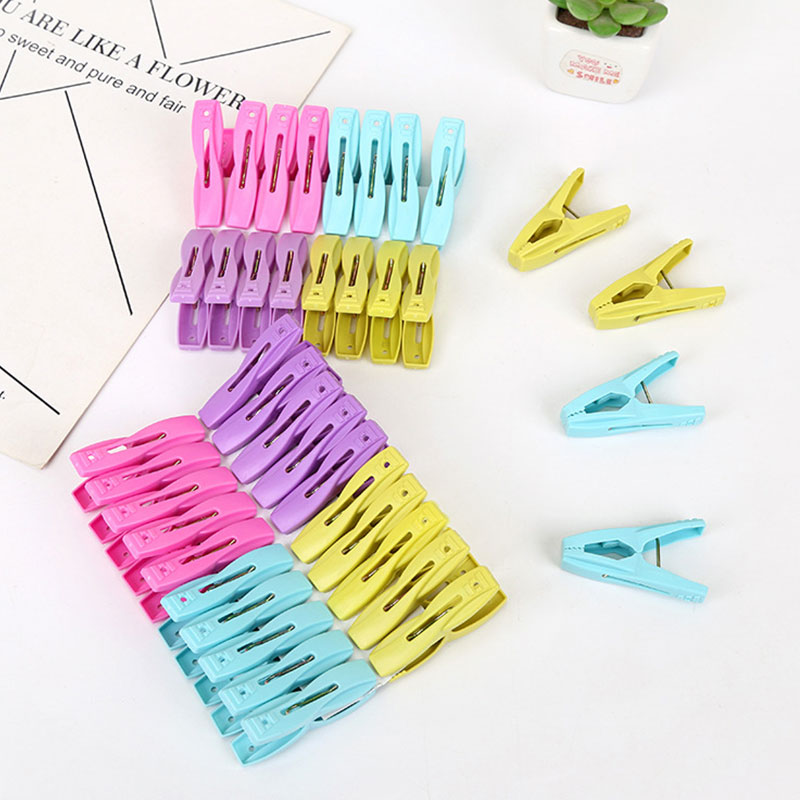 12 Packs 16 Packs 20 Packs Of Plastic Clothes Clips Strong Thick Windproof Durable Drying Clip Underwear Socks Clothespins in Garment Clips from Home Garden