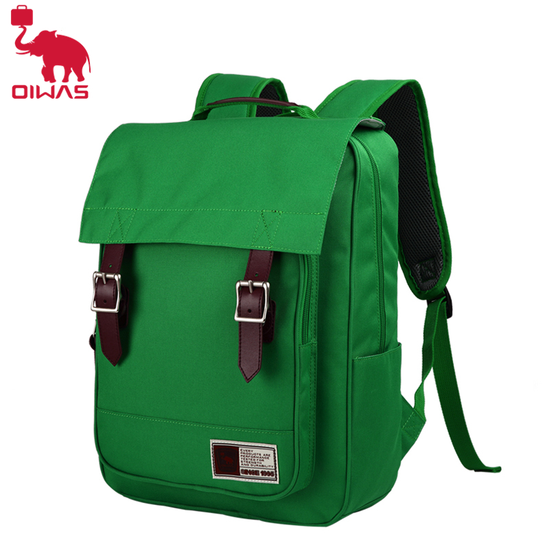 Oiwas Casual Large Capacity Men Male Backpack Waterproof Daily Rucksack Travel Bag School Bags Blue/Green Bag large 14 15 inch notebook backpack men s travel backpack waterproof nylon school bags for teenagers casual shoulder male bag