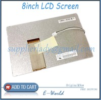 Original and New 8inch   LCD     screen   Hsd080idw1 0-c00 hsd080idw1 c01 for Car DVD free shipping