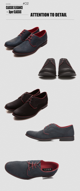 XPER Brand Men Dress Shoes Fashion Wedding Shoes Mens Blue Casual Footwear Formal Breathable Oxfords #YM518BU/BL