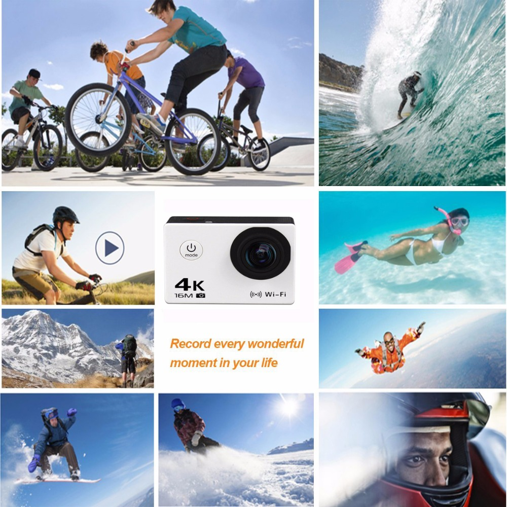 Trainshow Sports Action Vedio Camera, Full HD 4K 16MP Waterproof Diving WiFi Remote Control Helmet with Wrist remote control