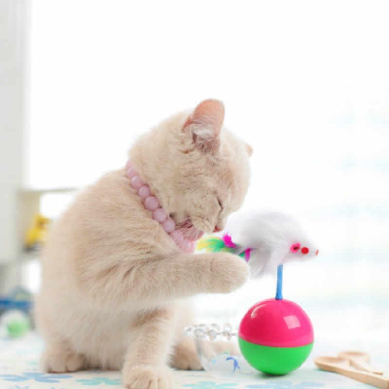SUEF 1pcs Gato de pelúcia favorito rato tumbler bola de plástico puzzle brinquedo de estimação gato criativo alívio do estresse @ 1