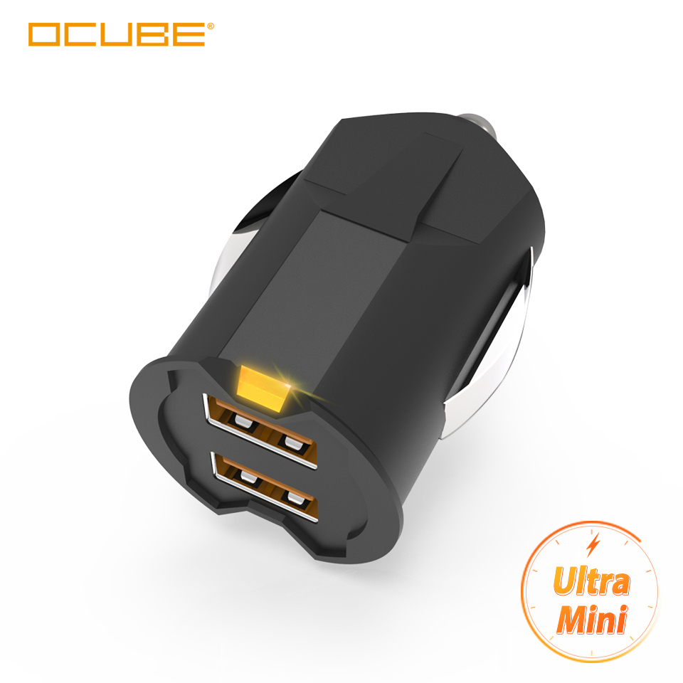 Smallest Mini Usb Car Charger Adapter 2a Car Usb Charger Mobile Phone Dual Usb Car-charger Auto Charge 2 Port For Xiaomi K20 Pro Зарядное устройство