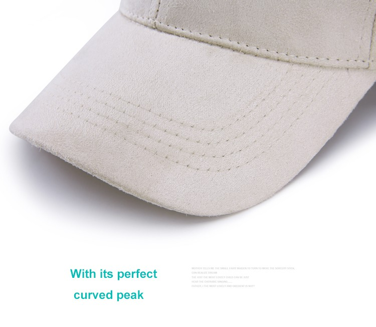 WEARZONE Unisex Soft Suede Baseball Cap Casual Solid Sports Hat Adjustable Breathable Dad Hats for Women Men 11