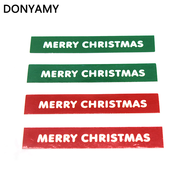 80pcs Merry Christmas Label Paper Sticker Gift Package Sealing Stickers for Cookie Candy Nuts Package X'mas