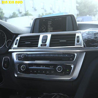 dashboad cover console penal Knob decorative trim sticker for BMW 3 4 series 320i F30 F32 335i 328i Interior Accessories