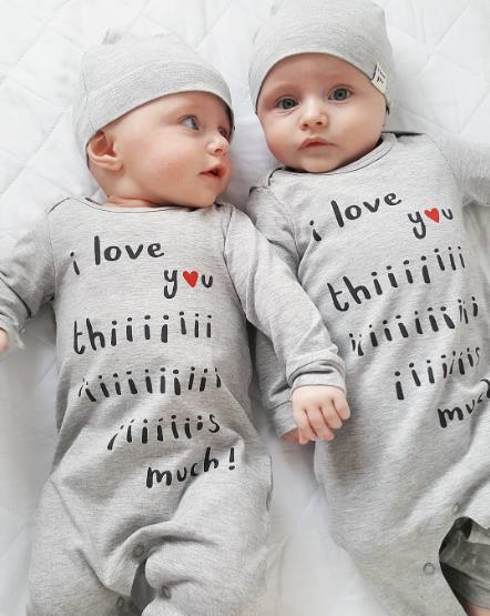 New Letter baby Rompers Long sleeve Rompers+hat 2 pieces/sets Newborn baby clothes jumpsuit Infant clothing Baby sets