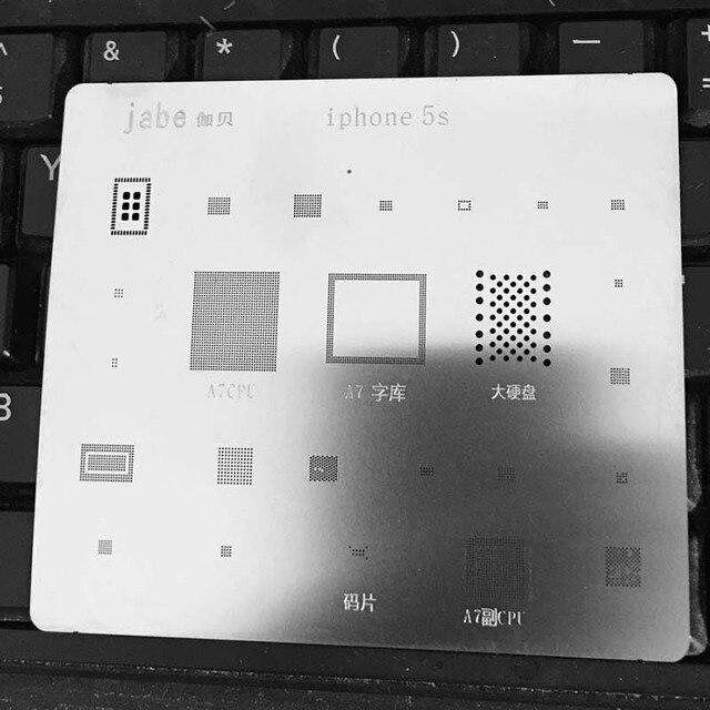 IC Repair BGA Rework Reball Reballing Stencils For IPhone 5S Template Mobile Phone Direct Heating