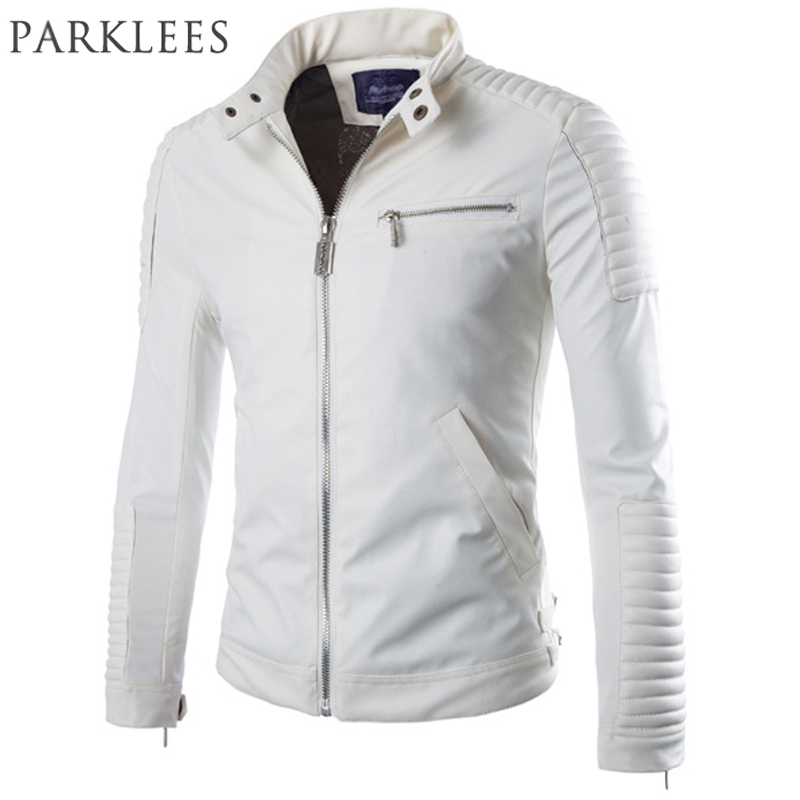 Popular Mens White Leather Jackets-Buy Cheap Mens White Leather ...