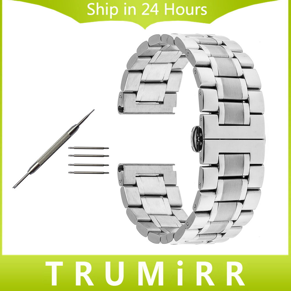 22mm 24mm Stainless Steel Watchband Butterfly Buckle Strap for Panerai PAM Luminor Radiomir Watch Band Wrist Belt Bracelet +Tool 24mm silicone rubber watch band for panerai luminor radiomir stainless steel pam buckle strap wrist belt bracelet