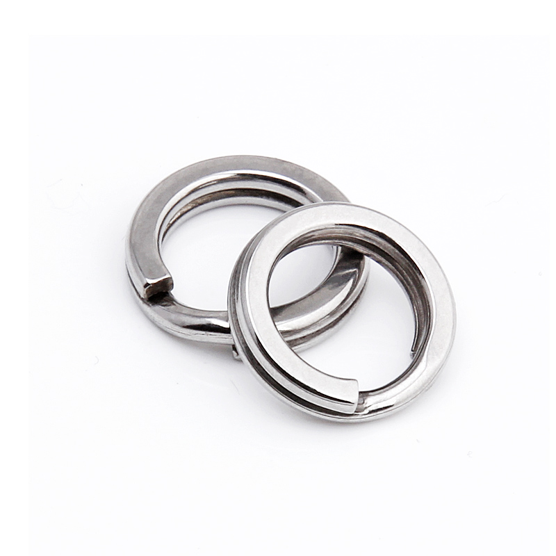50pcs Stainless steel fishing split ring for blank lures circle loop connector H
