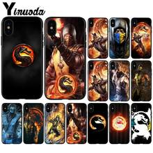 Yinuoda Mortal Kombat Patroon TPU Soft Telefoon Accessoires Telefoon Case voor Apple iPhone 8 7 6 6S Plus X XS MAX 5 5S SE XR Cover(China)