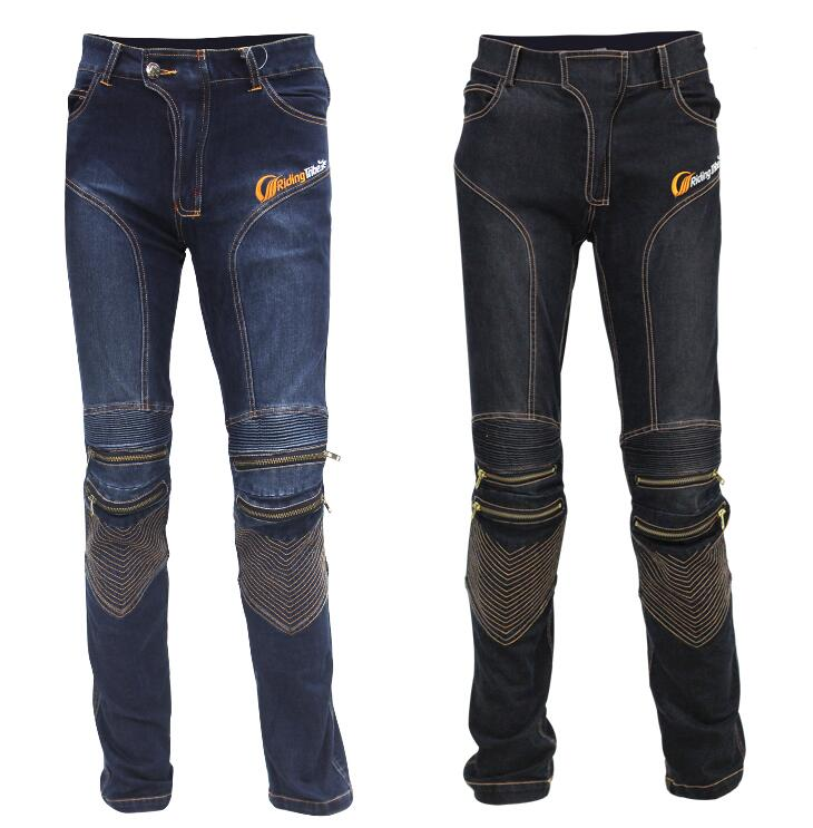 8ca2a87f771 Men s Motorcycle Pants Jeans Racing Moto Motocross MX Pants Off-Road Knee  Protector Jeans trousers