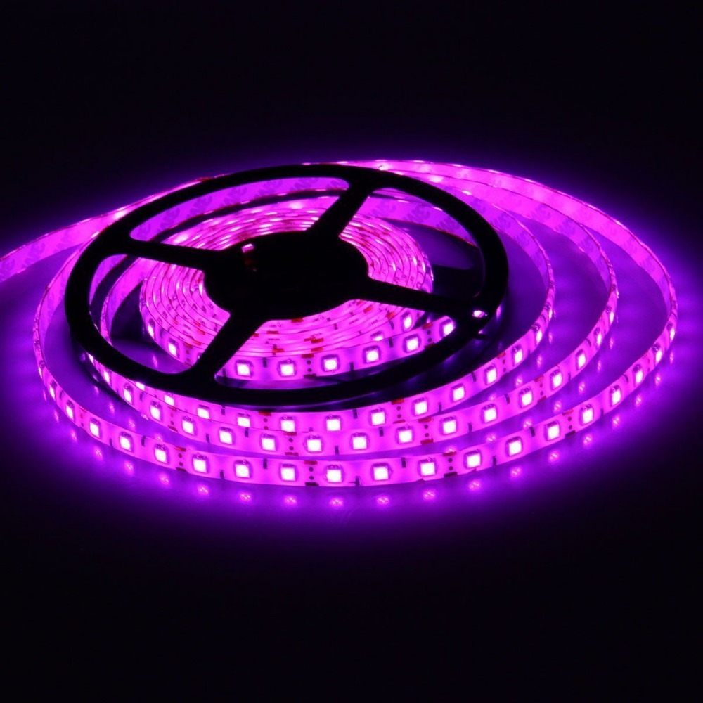 Led Strip Light 5050 Pink Color 300led 5m Waterproof Ip65 And Non Waterproof Ip20 DC 12V Led Flexible Light Smd Led Tape