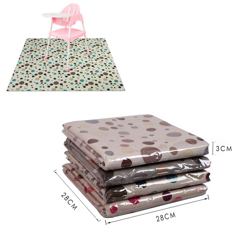 PVC Anti-slip Baby Feeding Mat Carpet 110*110 Cm Dining Chair Cushion Big Baby Playing Mat High Chair Cushion Floor Protector