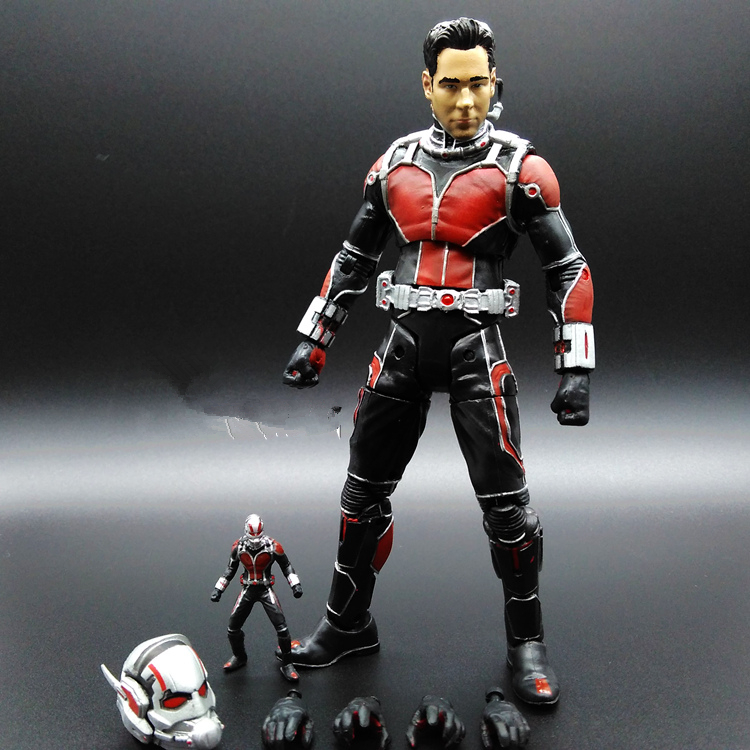 SAINTGI  Ant-Man Q Version Marvel Avengers Super Hero Figurine 18cm PVC Action Figure Toy Collectible Model for Car Accessories фигурка ant man ant man yellow jacket pop marvel