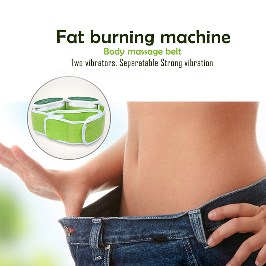 Body slimming massager Electric Fitness Vibrating device massage belt Fat burning thin Waist leg belly machine weight losing цена