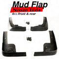 Car-Styling 4Pcs Set MUD FLAP FLAPS SPLASH GUARDS MUDGUARD FOR NISSAN Tiida VERSA ALMERA SEDAN SUNNY 2012 2013 2014 Car-Covers