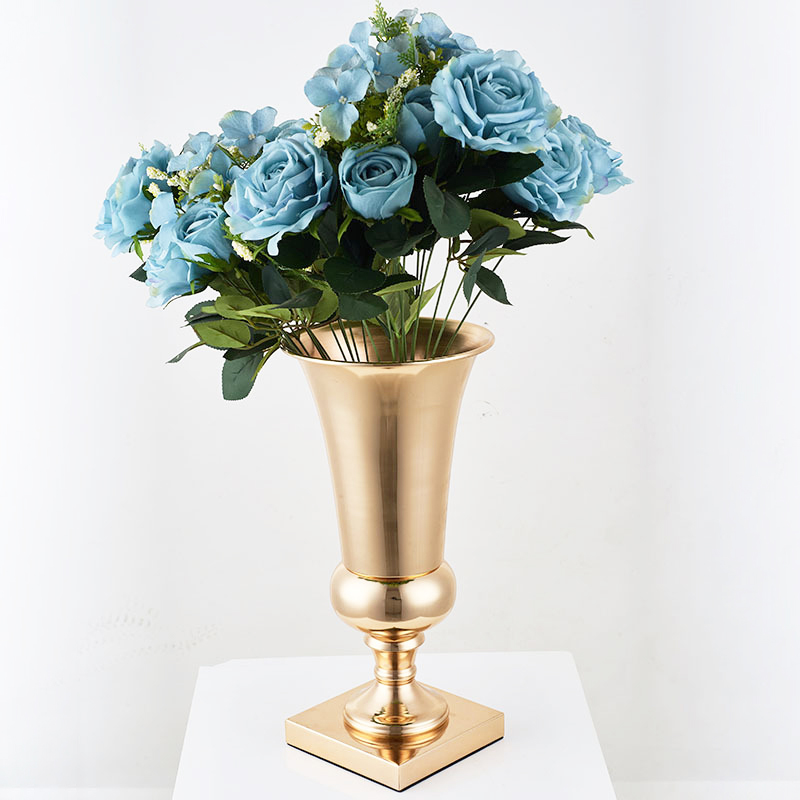 Flowers Vase Iron Silver/Gold Plant Holder Stand Organizer Home Living room Decor Romantic Party Container Elegant