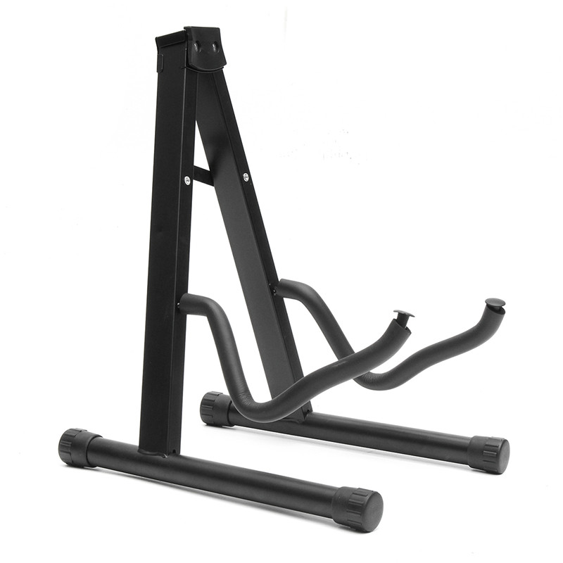 Folding Guitar Floor Stand Holder A Frame Universal Fits Acoustic Electric Bass Solid And Secure Folding Design folding a frame electric guitar floor stand holder acoustic guitar electric guitar bass floor rack holder promotion