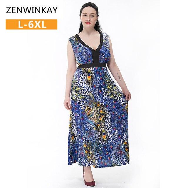 d530c812f049c4 Overgooiers plus size boho vrouwen jurken losse elegante lange dress vrouwen  2017 Zomer Strand Jurken Grote