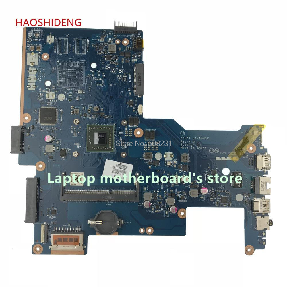 HAOSHIDENG 764260-501 764260-001 mainboard For HP 15-G NOTEBOOK PC ZS051 LA-A996P laptop motherboard A8-6410U fully Tested la a996p 764003 601 for hp 255 g3 notebook la a996p uma e1 6010 w8pro 764003 501 100