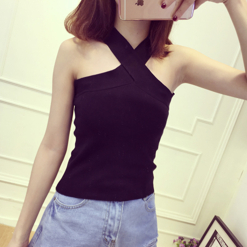 Summer Women V-Neck Slim Bodycon   Tank     Tops   Girl Sleeveless Short Solid T-Shirt Camis Tees   Top   for Girls