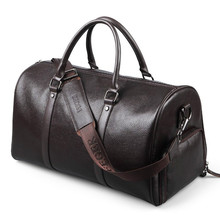 Men Genuine Leather Travel Bags Duffle Women Real Bag Big Vintage Cow Weekend Messenger