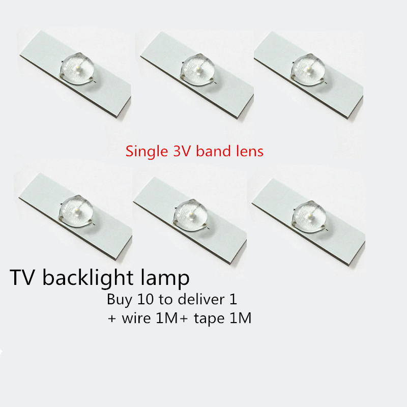 3V Lens Headlight, 32 Inch -65 Inch M LCD TV LED Backlight Belt Beads With Lens Back Into The Luminous General TCL