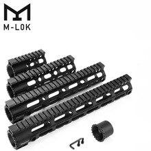 Magorui Tactical AR-15 M4 M-LOK 4'7'10'12'15 inch MLOK Slim Free Float Handguard Picatinny Rail Mount Bracket Forend Barrel Nut цена