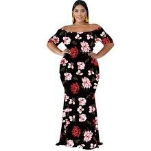 Beach large size dress sexy fat mom print 2019 summer new hot sale XL XL-5XL