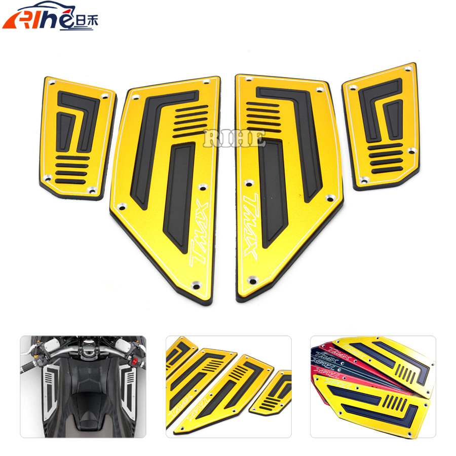Motorcycle Accessories Front and Rear scooter Motorblke Footboard Steps Foot Pegs Plate for YAMAHA TMAX530 2012 - 2016 TMAX 530 180 16 9 fast fold front and rear projection screen back