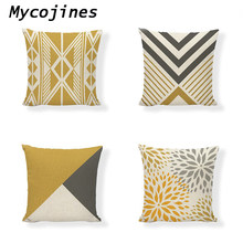 Cushion Cover Modern Scandinavian Style Geometric Print Square Throw Pillowcase Office Home Living Room Decor Waist Pillowcase(China)