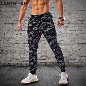 Image 1 - 2020 הסוואה ריצה מכנסיים גברים ספורט חותלות כושר גרביונים כושר Jogger פיתוח גוף מכנסי טרנינג ספורט ריצת מכנסיים מכנסיים