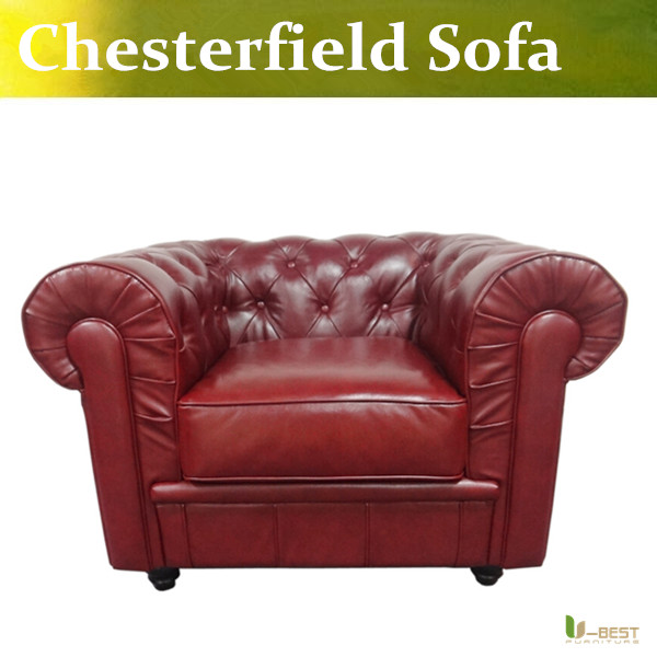U-BEST custom designed leather Chesterfield chair,Leather armchairs,The  Hotel Sofa& Residences