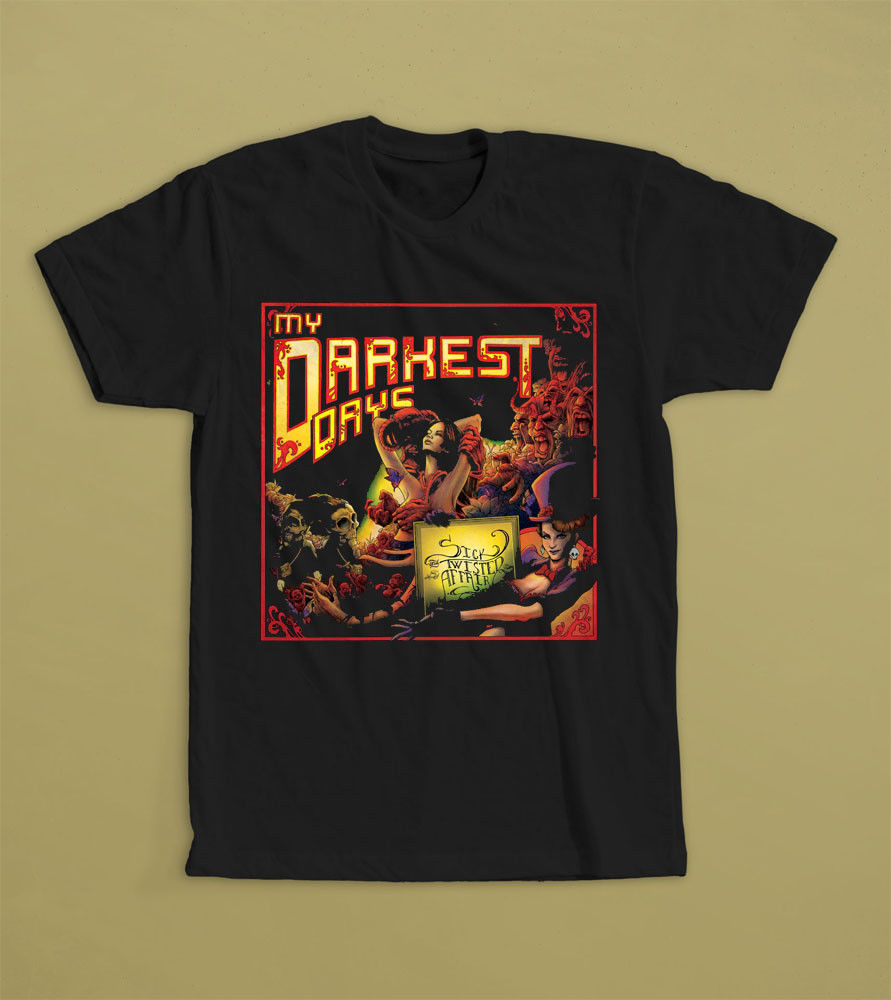 My Darkest Days Sick And Twisted Affair Post Grunge Band T Shirt S M L Xl 2Xl