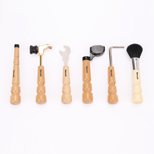 6 Pcs/Pack Guitar Repair Tools/Kit (Brush/String-winder/Hammer/wrench/pins&knobs) Instruments case bags Guitar Parts Accessories