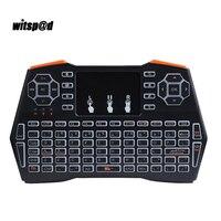 ポータブルミニワイヤレスi8キーボード2.4 ghzでタッチパッドバックライトキーボードハンドヘルドタッチパッドキーボード用のandriod ios
