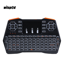 Portable Mini Wireless i8 Keyboard 2.4GHZ with Touchpad Backlit Keyboard Handheld Touchpad Keyboard for Andriod For IOS