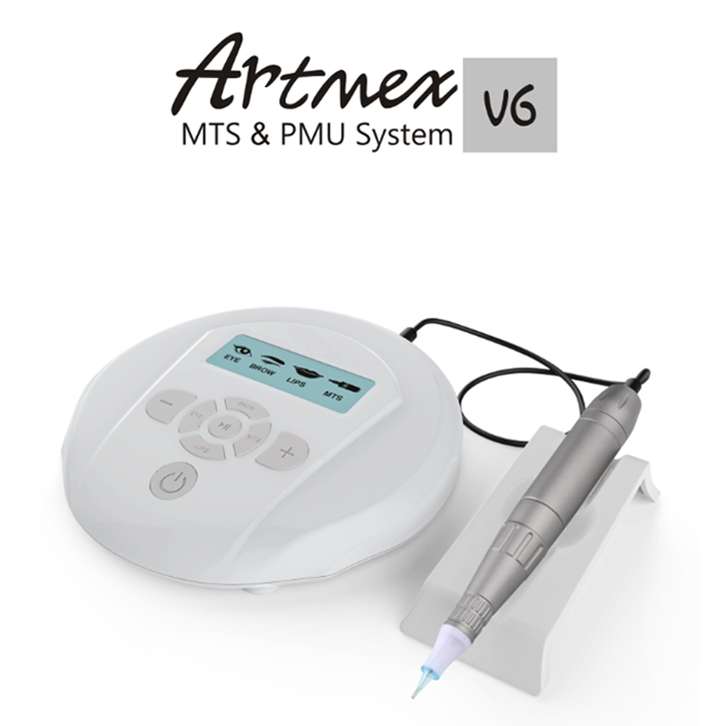 Permanent Makeup machine Artmex V6 Eye Brow Lip Rotary Pen V6 Tattoo Machine MTS PMU System with V6 tattoo needle