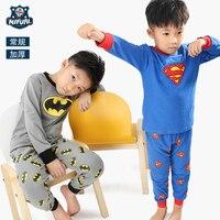 Children S Home Wear Superman Pajamas 2017 New Winter Batman Long Sleeve Home Suit Boy S