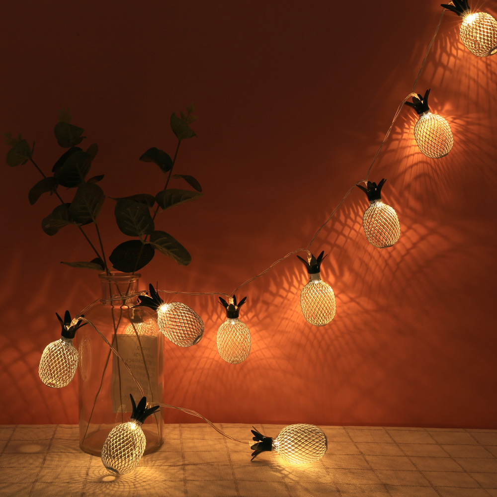10 LED Light String Waterproof Pineapple Fairy lights ...